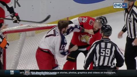 Brandon Dubinsky vs Mark Borowiecki Mar 4, 2017