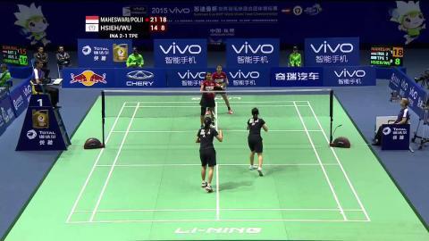Indonesia vs Chinese Taipei   QF - VIVO BWF Sudirman Cup 2015