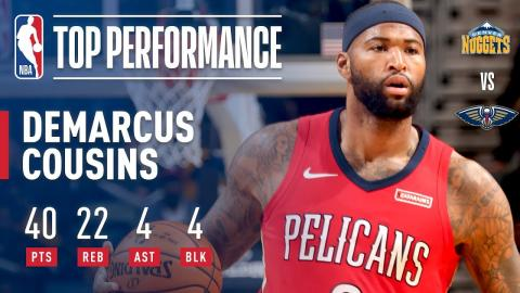 DeMarcus Cousins Puts Up 40 Points and Gets 22 Rebounds | December 6, 2017