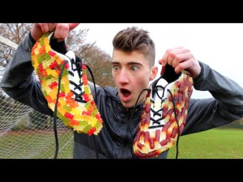 GUMMY BEAR vs. COLA BOTTLE (FOOTBALL BOOTS)!!