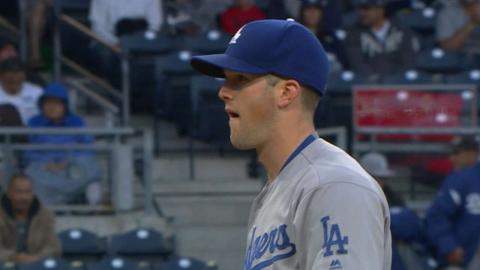 LAD@SD: Wood fans career-high 13, holds Padres to two