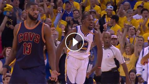 59e8ccd6301e MVP Duel  Kevin Durant s 38 Beats LeBron James  28 In NBA Finals 2017 Game 1