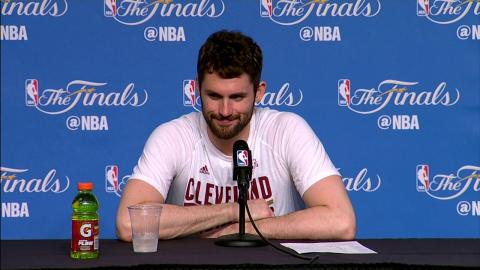 Kevin Love NBA Finals Game 4 Press Conference