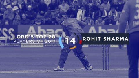 14) Rohit Sharma | Lord's Top 20 Players of 2017
