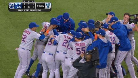 NYM@LAD Gm5: Familia seals win to send Mets to NLCS