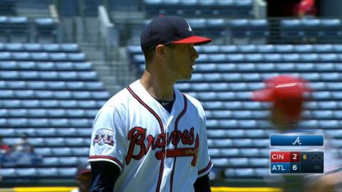 CIN@ATL: Wisler earns win with 6 2/3 strong innings