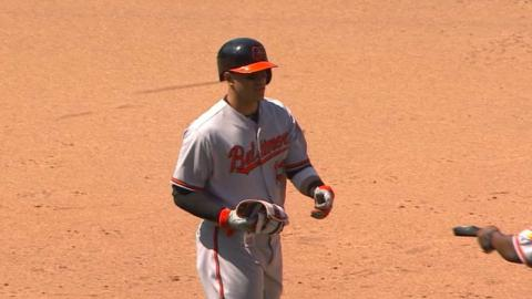 BAL@SD: Orioles pile on the runs in the 9th inning