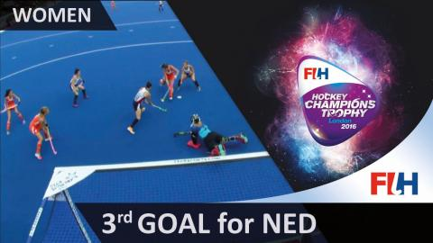 NED 3-1 USA The Netherlands restore their 2 goal lead as Welten knocks in the loose ball #HCT2016