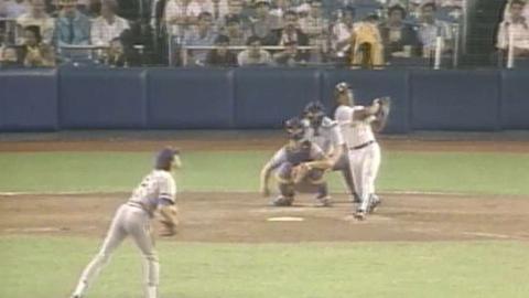 MIL@NYY: Rickey's upper deck Yankee Stadium homer