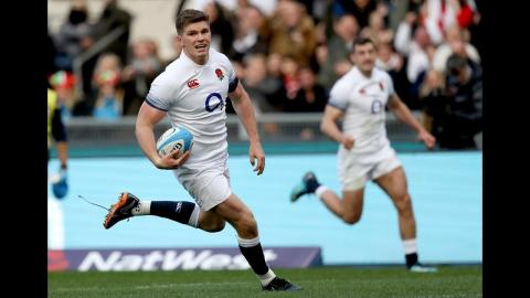 Farrell runs sublime line for England's third try! | NatWest 6 Nations