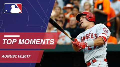 Trout's historic HRs, nine moments from around the Majors: 8/19/17