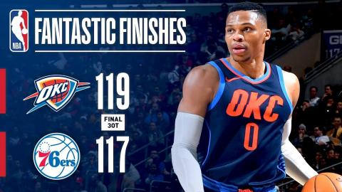 Thrilling 3OT Finish Between the Thunder and 76ers | December 15, 2017