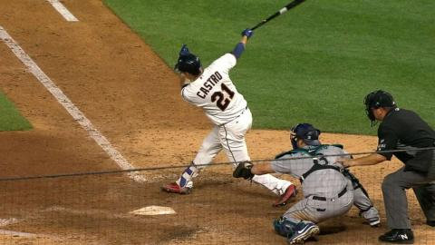 SEA@MIN: Castro grabs four singles with four RBIs