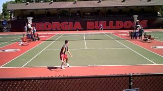 2014 NCAA College Tennis Championships Athens USC Trojans Vs. Columbia 2 Singles