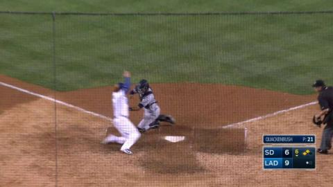 SD@LAD: Relay throw cuts down Turner at home plate