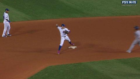 NLCS Gm2: Baez helps turn 5-4-3 double play in 8th