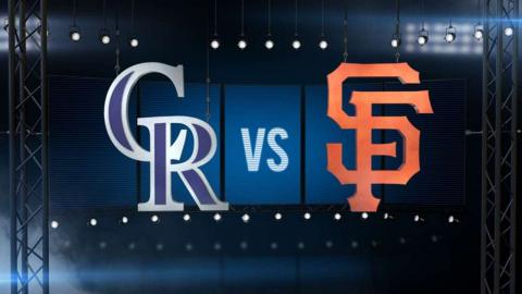 7/5/16: Rockies pile on the runs late to top Giants
