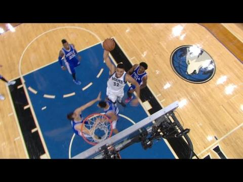 Karl Anthony-Towns With The Huge Dunk Down The Middle!
