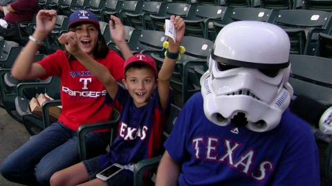 CLE@TEX: Fan shows off Rangers and Star Wars pride