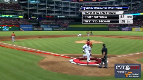 HOU@TEX: Prince runs home at 18 mph to tie the game
