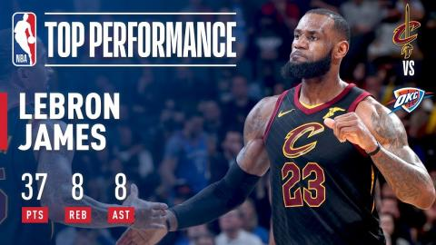 LeBron James Leads Cavs to 4th Straight Win With 37/8/8 | February 13, 2018