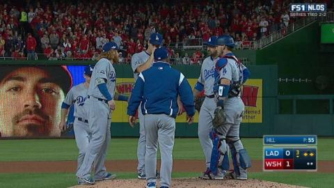 WSH@LAD Gm5: Roberts goes to the bullpen, Hill exits