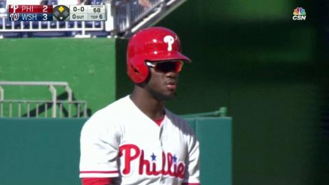 PHI@WSH: Herrera plates Morgan with a double in 6th