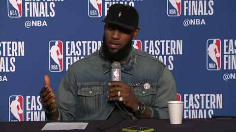 a2cc29ef257 Kevin Love and LeBron James Postgame Interview