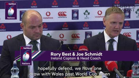 Joe Schmidt on Ireland's chances of winning the title | NatWest 6 Nations