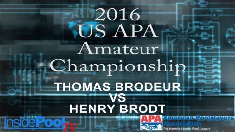 2016 U S  APA Amateur Championship Thomas Brodeur vs Henry Brodt