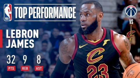 LeBron James Starts the 2nd Half of the Season With a Near Triple-Double | February 22, 2018
