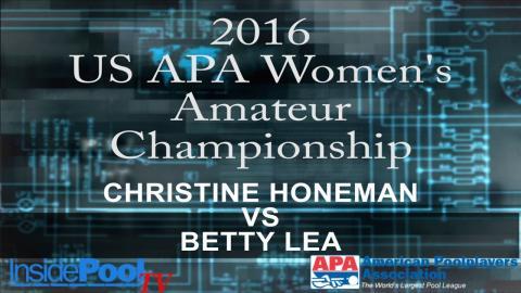 2016 U S  APA Womens Amateur Championship Christine Honeman vs Betty Lea