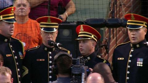 KC@BAL: U.S. Army Chorus performs national anthem