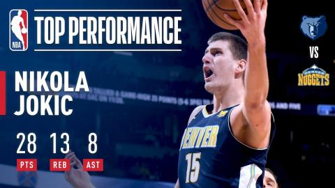 Nikola Jokic's Near Triple-Double Lifts Nuggets Over Grizzlies | November 24, 2017