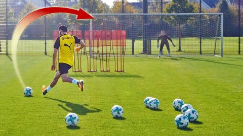 freekickerz vs Nuri Sahin (BVB) - Free Kick Football Challenge