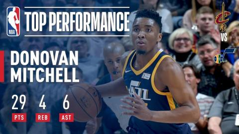 Donovan Mitchell Scores 29 in Win vs. Cavs | December 30, 2017