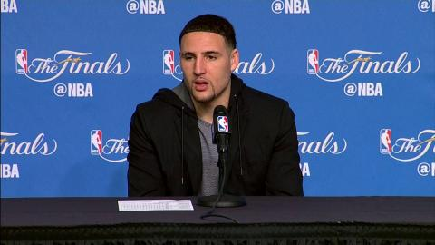 Klay Thompson NBA Finals Game 3 Press Conference