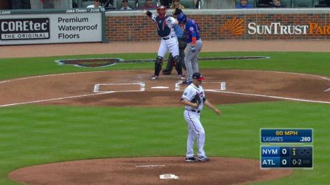 NYM@ATL: Newcomb tallies his first career strikeout