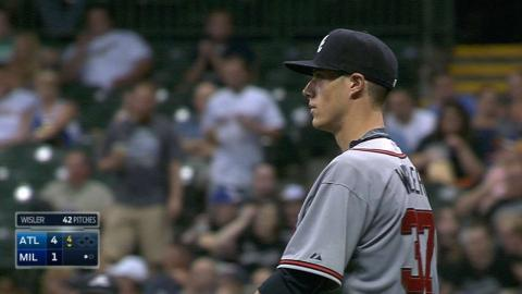 ATL@MIL: Wisler pitches 5 2/3 innings, fans six