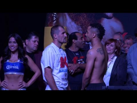 Sergey Kovalev vs Andre Ward Official Weigh In !! HBO PPV Boxing !!