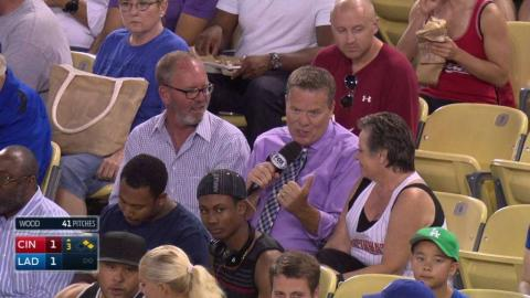 CIN@LAD: Lamb's family on excitement of MLB debut