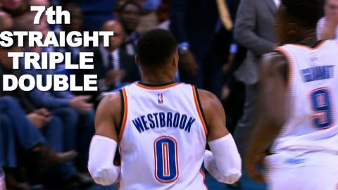Westbrook Records 7th Consecutive Triple Double | 12.09.16
