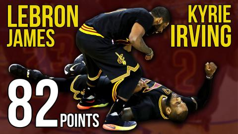 Kyrie Irving and LeBron James Combine for 82 Points in Game 5 NBA Finals Win