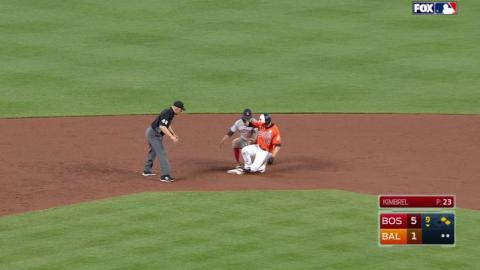 BOS@BAL: Mancini hammers an RBI double to right