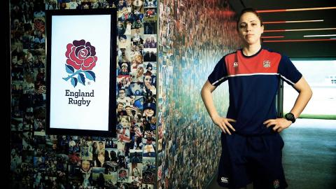 Rugby's first professional female referee: Sara Cox