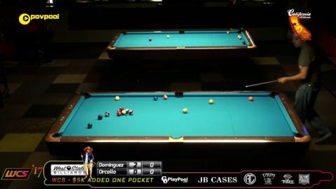 #3 Oscar DOMINGUEZ vs Dennis ORCOLLO / 2017 WCC One Pocket