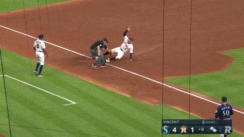 SEA@HOU: Heredia throws out Springer with great throw