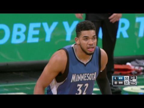 Karl Anthony Towns Massive Posterizing Dunk