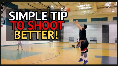 SIMPLE TIP To Shoot A Basketball Better Off The Catch!