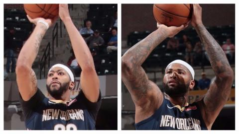 Anthony Davis (37/14) and DeMarcus Cousins (32/13) Lead Pelicans to Win at Indy | November 7, 2017